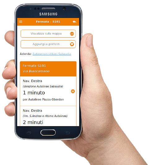 La app per gli arrivi degli autobus in tempo reale