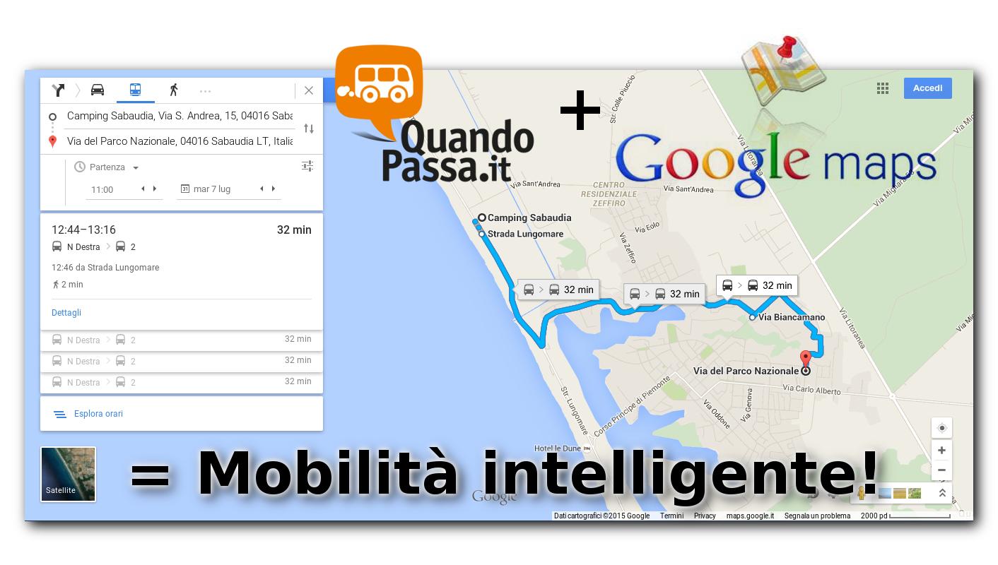 Esportazione di percorsi linee bus, orari e fermate su Google Maps